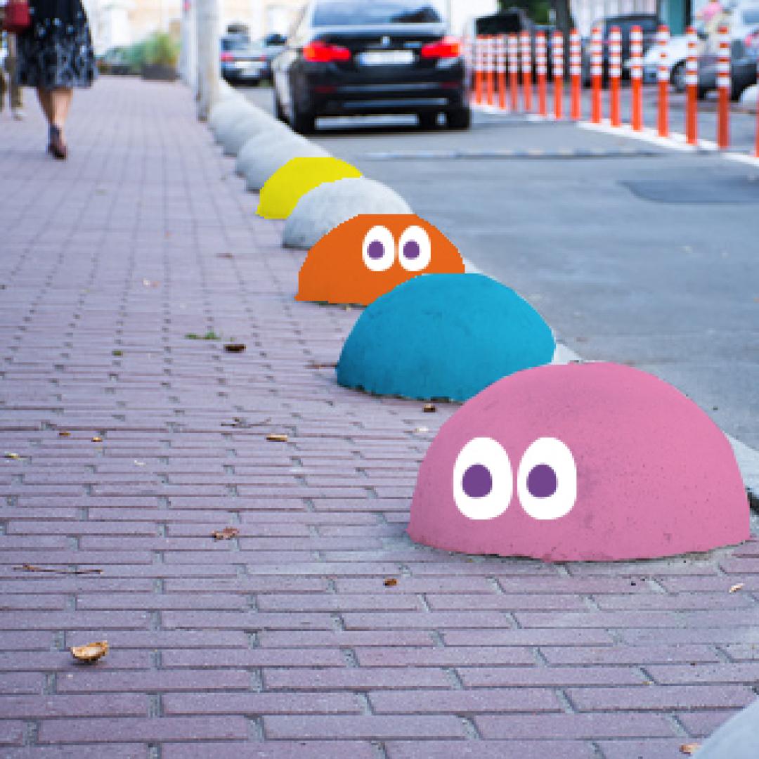 Mobiliário | Bolinhas calçada